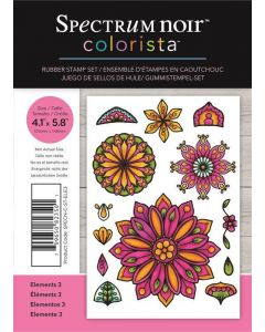 Spectrum Noir Colorista A6 Rubber Stamp - Elements 3