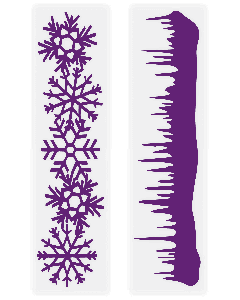 Gemini Embossing Folder (2PC) - Snow Borders