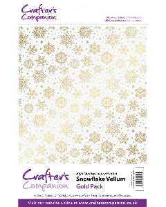 Crafter's Companion Snowflake Vellum - Gold