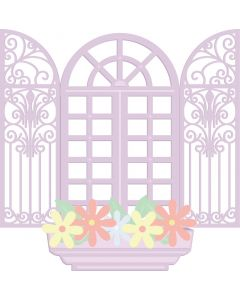 Crafter's Companion Nature's Garden Spring is in the Air Metal Die - Cottage Window