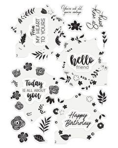 Crafter's Companion Photopolymer Layering Stamp - Spring Wreath