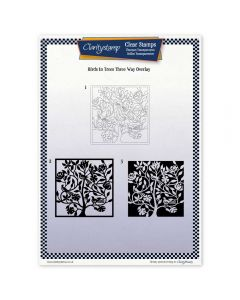 Claritystamp Three Way Overlay A4 Stamp Set - Birds In A Tree