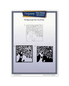 Claritystamp Three Way Overlay A4 Stamp Set - The Happy Couple