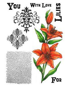 Sheena Douglass A5 Stamp - Blooming Lilies