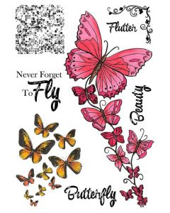 Sheena Douglass A5 Stamp - Butterfly Beauty