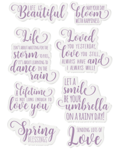 Crafter's Companion Nature's Garden Spring is in the Air Acrylic Stamp - Spring Sentiments