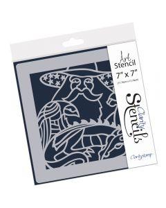 "Claritystamp 7"" x 7"" Stencil - Magic Merlin"