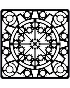 Creative Expressions Steampunk Stencil - Clockwork
