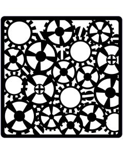 Creative Expressions Steampunk Stencil - Gears