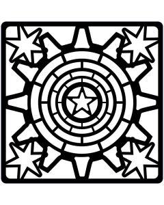 Creative Expressions Steampunk Stencil - Stars