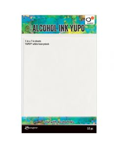 Ranger Tim Holtz Alcohol Ink White Yupo Paper - 144lb 10 pack