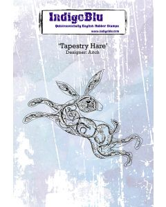 IndigoBlu A6 Rubber Stamp - Tapestry Hare