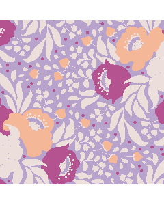 Tilda Plum Garden Fabric - Autumn Bouquet Lavender