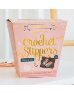 The Makery Craft Kit - Crochet Slippers