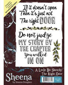 Sheena Douglass A Little Bit Sketchy A6 Rubber Stamp Set - The Right Door