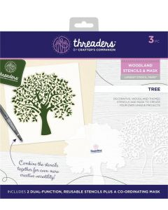Threaders Woodland Stencil and Mask - Tree