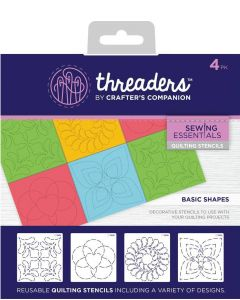 Threaders Quilting Stencils - Basic Shapes