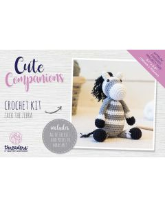 Threaders Cute Companions Crochet Kit - Zack the Zebra