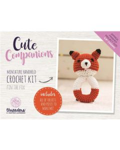 Threaders Cute Companions Crochet Kit - Fin the Fox Miniature Handheld