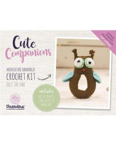 Threaders Cute Companions Crochet Kit - Olly the Owl Miniature Handheld