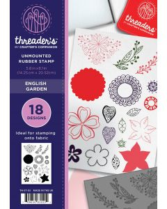 Threaders A5 Rubber Stamp Set - English Garden