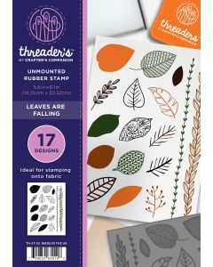 Threaders A5 Rubber Stamp Set - Leaves are Falling