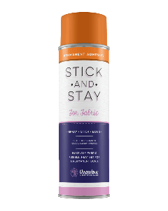 Crafter's Companion Stick and Stay Adhesive For Fabric (ORANGE CAN)