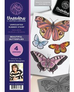 Threaders A5 Rubber Stamp Set - Beautiful Butterflies