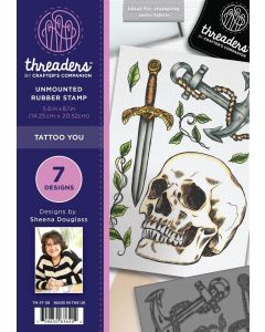Threaders A5 Rubber Stamp Set - Tattoo You