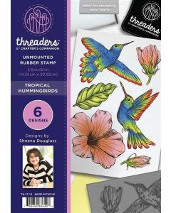 Threaders A5 Rubber Stamp Set - Tropical Hummingbirds