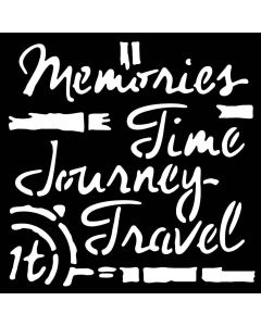 """Woodware 6"""" x 6"""" Stencil - Time Travel"""
