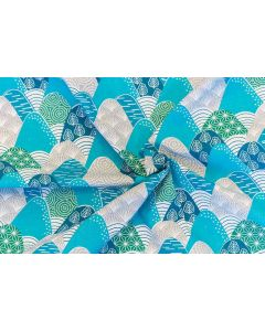Threaders Tokyo Blue Fabric - Tokyo Mountains