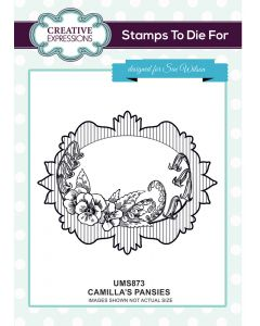 Sue Wilson Stamps to Die For - Camilla's Pansies