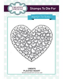 Sue Wilson Stamps to Die For - Pleated Heart