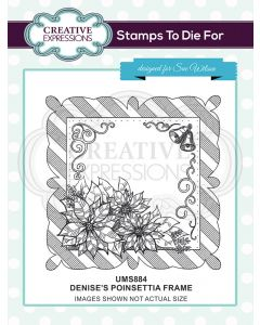 Creative Expressions Pre Cut Stamp - Denise's Poinsettia Frame