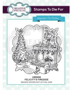 Creative Expressions Pre Cut Stamp - Felicitys's Fireside