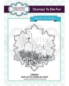 Creative Expressions Pre Cut Stamp - Hayley's Candlelight