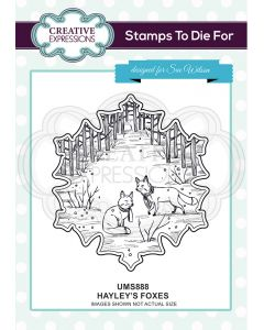 Creative Expressions Pre Cut Stamp - Hayley's Foxes