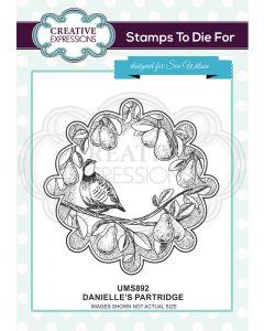 Creative Expressions Pre Cut Stamp - Danielle's Partridge
