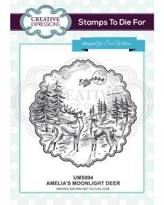 Creative Expressions Pre Cut Stamp - Amelia's Moonlight Deer