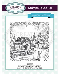 Creative Expressions Pre Cut Stamp - Denise's Snowy Night