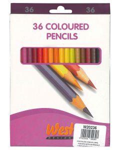 West Design Coloured Pencils Box 36