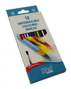 West Design Watercolour Pencils Box - 12