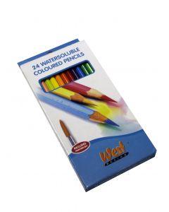 West Design Watercolour Pencils Box - 24