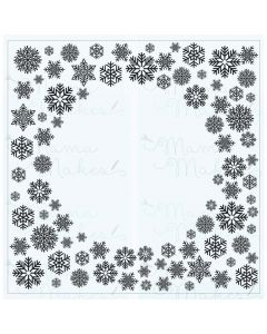 Mama Makes Clear Photopolymer Stamps - Circle Centres Snowflakes Frame