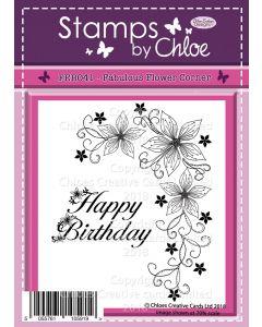 Stamps by Chloe - FEB041 Fabulous FlowerCorner