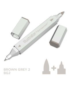 Illustrator by Spectrum Noir Single Pen - Brown Grey 2
