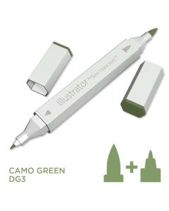 Illustrator by Spectrum Noir Single Pen - Camo Green