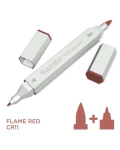 Illustrator by Spectrum Noir Single Pen - Flame Red