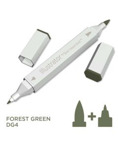 Illustrator by Spectrum Noir Single Pen - Forest Green